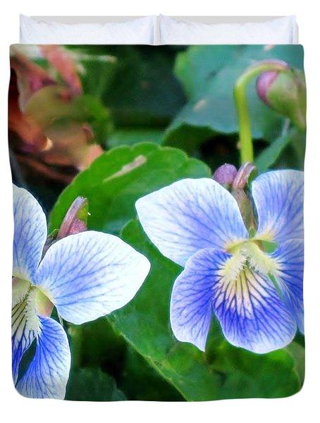 Wild Violets Duvet Cover