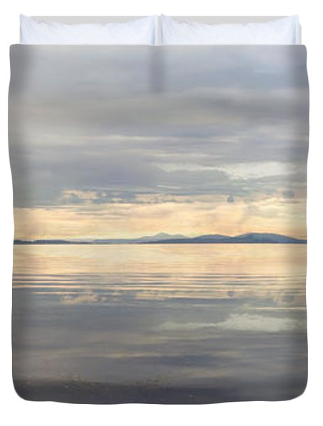 Duvet Cover featuring the photograph Wildcat Cove Along Chuckanut Drive In Washington by JPLDesigns