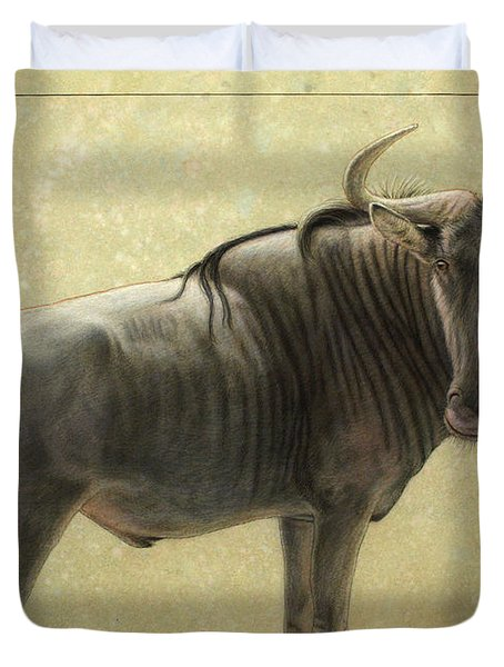 Wildebeest Duvet Cover by James W Johnson