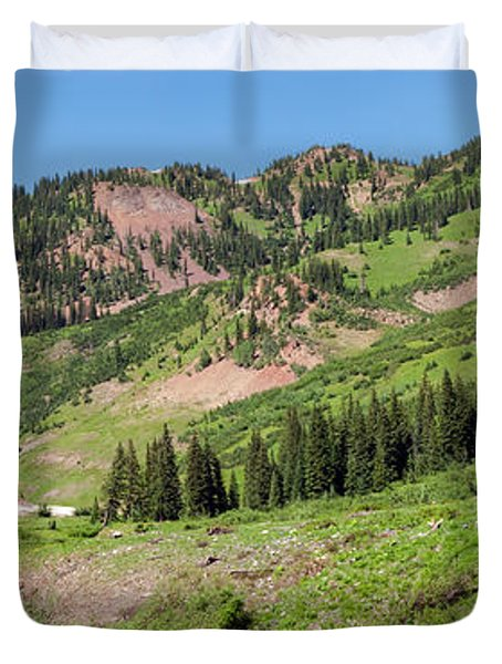 Wilderness Area And Snake River Duvet Cover