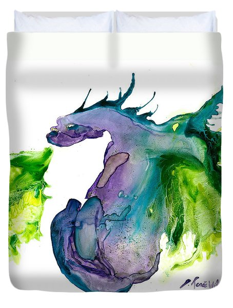 Wildfire And Water Dragon Duvet Cover