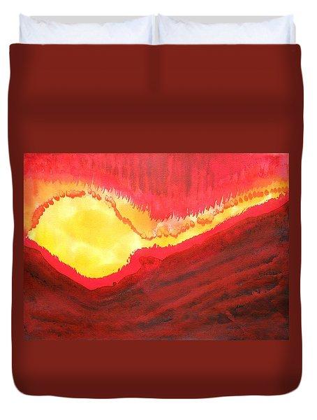 Wildfire Original Painting Duvet Cover