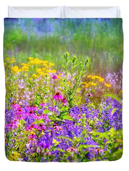 Wildflower Beauty  Duvet Cover by Peggy Franz