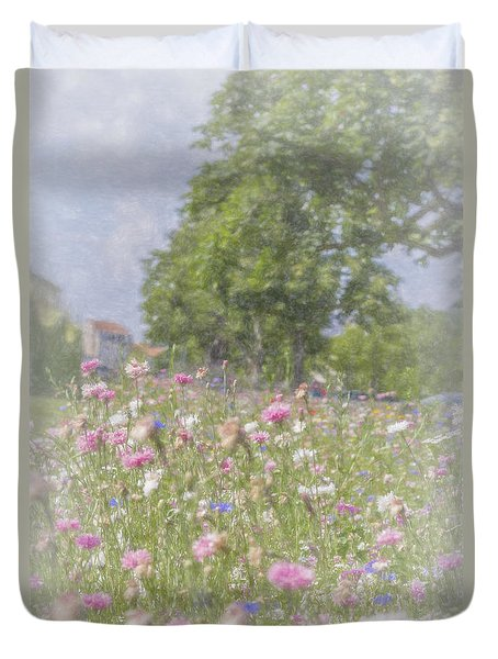 Wildflower Impressionism Duvet Cover by Elaine Teague