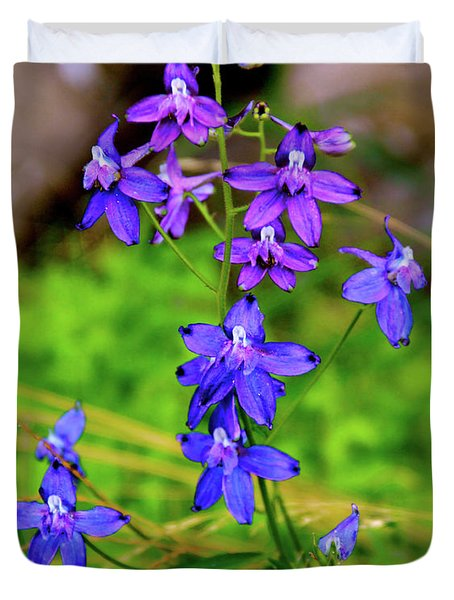 Wildflower Larkspur Duvet Cover