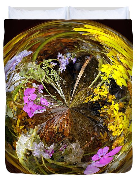 Duvet Cover featuring the photograph Wildflower Paperweight by Gary Holmes