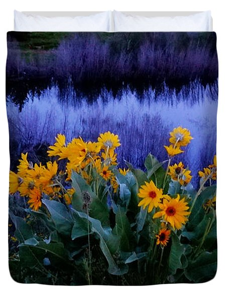 Wildflower Reflection Duvet Cover by Dan Sproul
