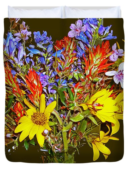Wildflower Reminiscences Duvet Cover