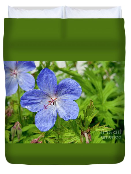 Duvet Cover featuring the photograph Wildflower by Rod Wiens