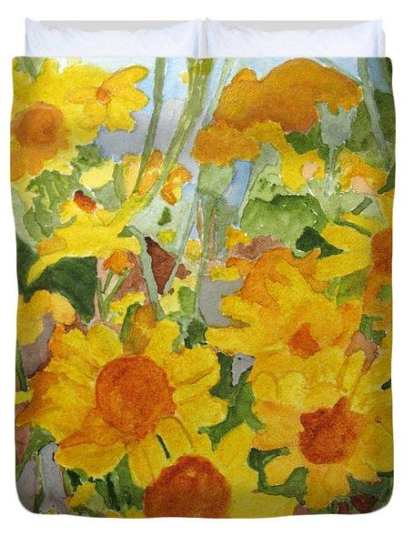 Wildflower Volunteers Duvet Cover