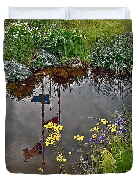 Wildflowers By Discovery Center In Gros Morne Np-nl Duvet Cover