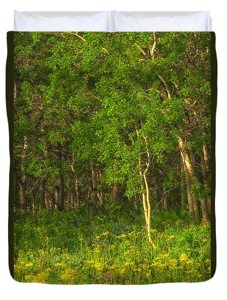 Duvet Cover featuring the photograph Wildflowers Glacier National Park Montana by Ram Vasudev