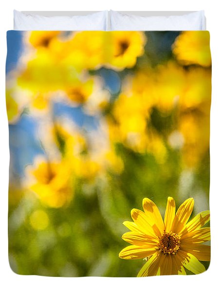 Wildflowers Standing Out Abstract Duvet Cover