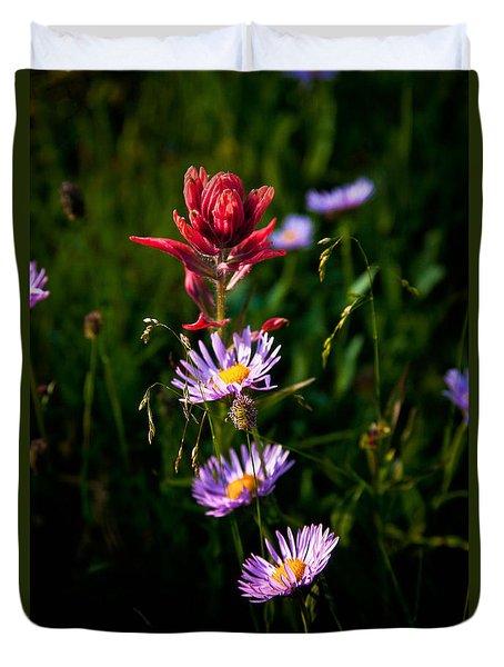 Duvet Cover featuring the photograph Wildflowers by Steven Reed