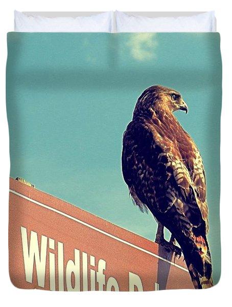 Wildlife Drive Greeter Duvet Cover