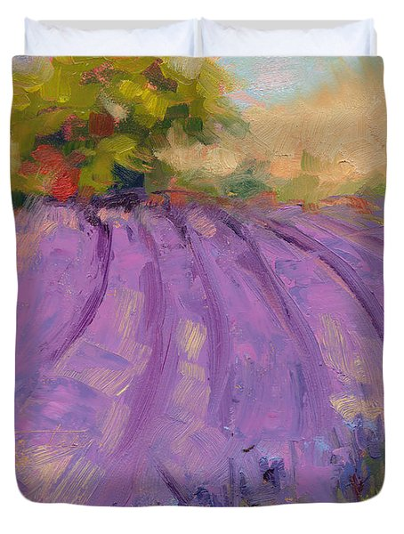 Wildrain Lavender Farm Duvet Cover