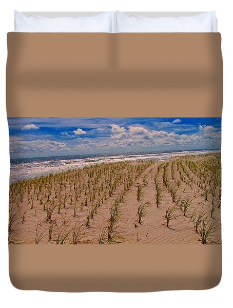 Wildwood Beach Breezes  Duvet Cover by David Dehner