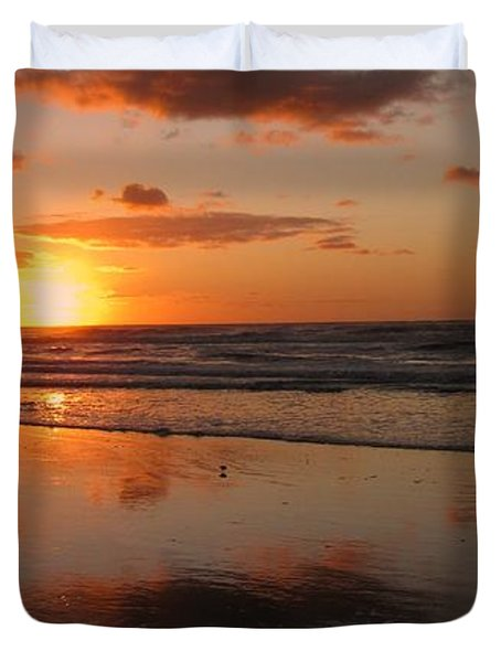 Wildwood Beach Sunrise Duvet Cover by David Dehner