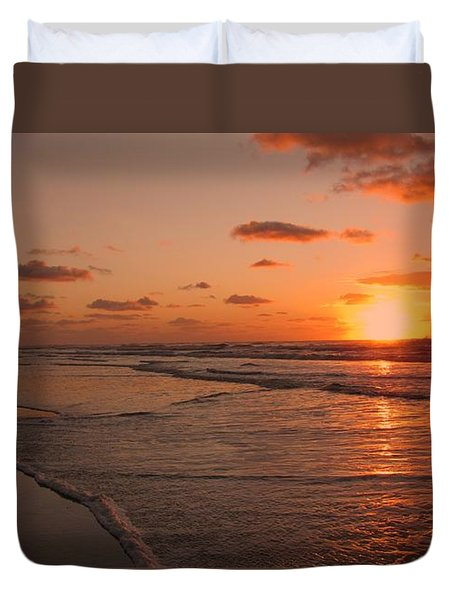 Wildwood Beach Sunrise II Duvet Cover by David Dehner