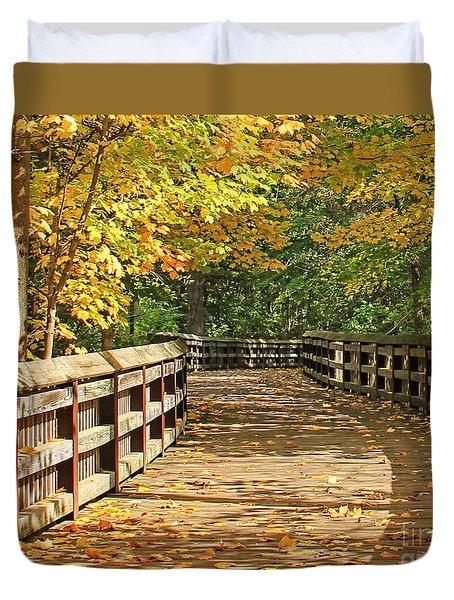 Wildwood Boardwalk Corrected Duvet Cover