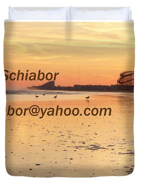 Wildwood Sunset Duvet Cover by Eric  Schiabor