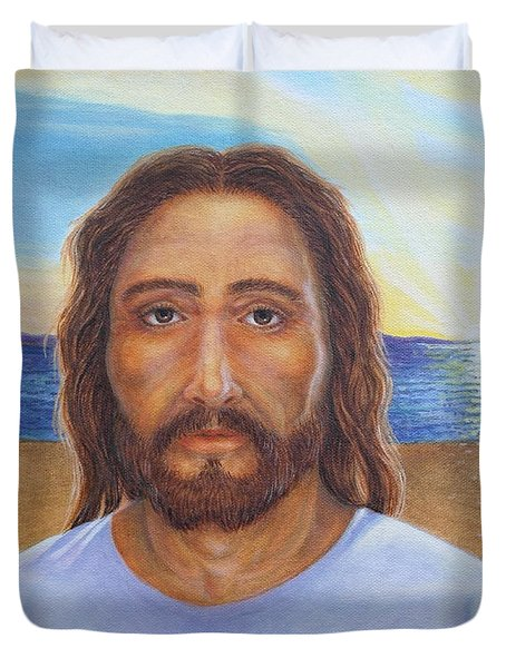 Will You Follow Me - Jesus Duvet Cover