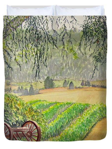 Willamette Valley Winery Duvet Cover
