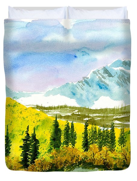 Willard Peak Duvet Cover