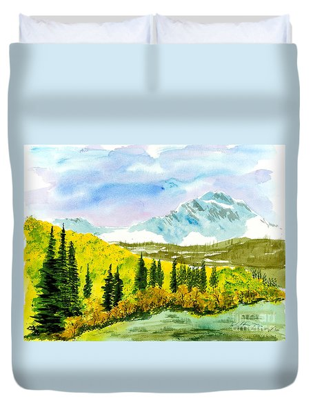 Willard Peak Duvet Cover