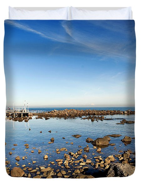 Williamstown Beach Duvet Cover by Yew Kwang