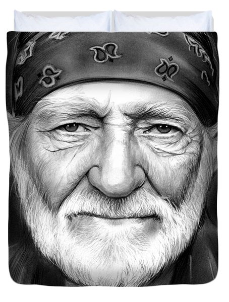 Willie Nelson Duvet Cover by Greg Joens
