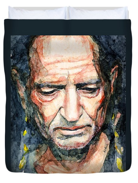 Willie Nelson  Duvet Cover by Laur Iduc