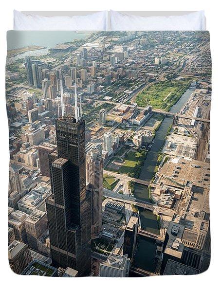Willis Tower Southwest Chicago Aloft Duvet Cover