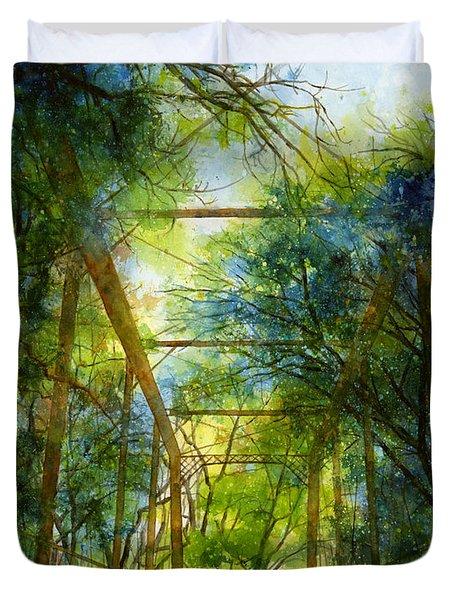 Willow Springs Road Bridge Duvet Cover