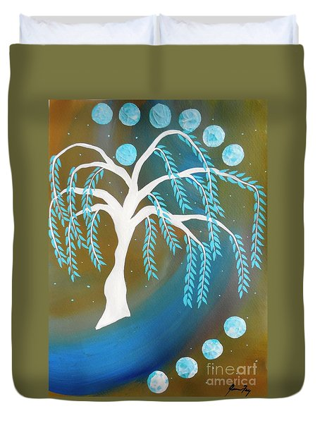 Willow Tree Moon Duvet Cover