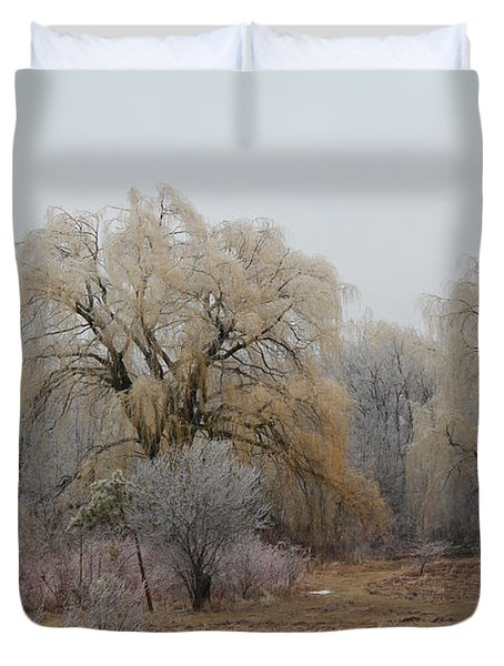 Willow Trees Iced Duvet Cover