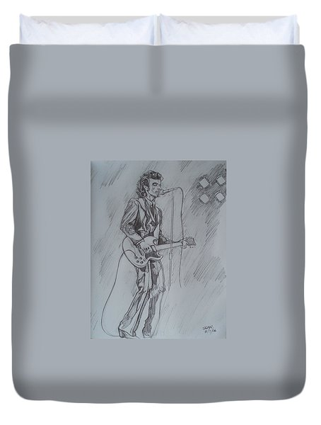 Mink Deville - Steady Drivin' Man Duvet Cover by Sean Connolly