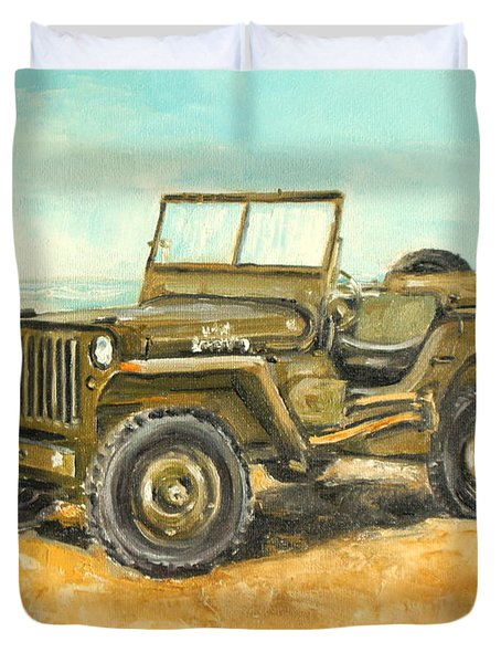 Willys Jeep Duvet Cover