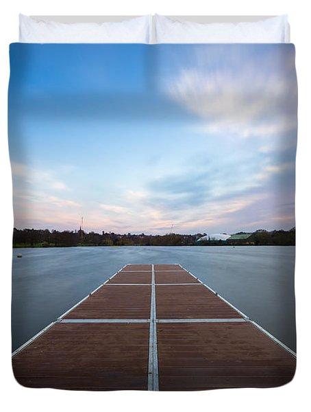 Wimbledon Park Sunset Duvet Cover by Matt Malloy