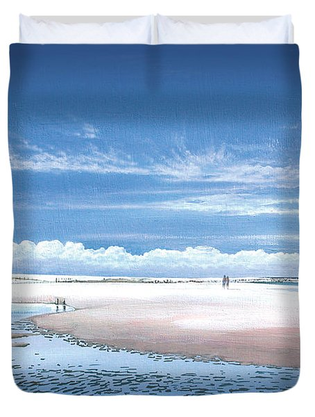 Winchelsea Beach Duvet Cover by Steve Crisp