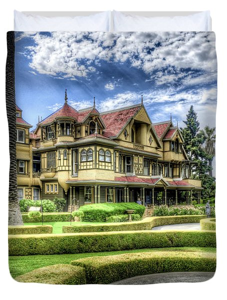 Duvet Cover featuring the photograph Winchester Mystery House by Jim Thompson
