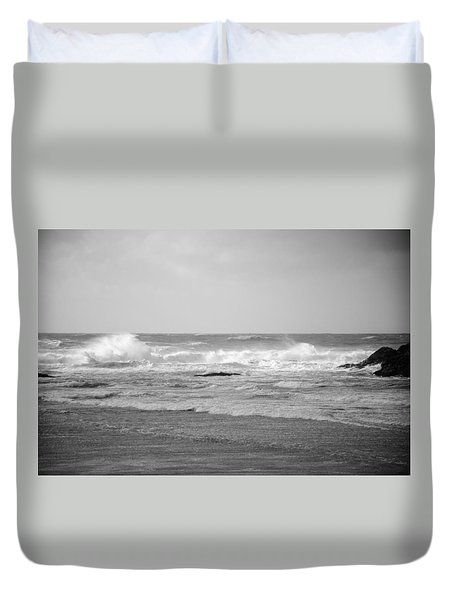Wind Blown Waves Tofino Duvet Cover by Roxy Hurtubise