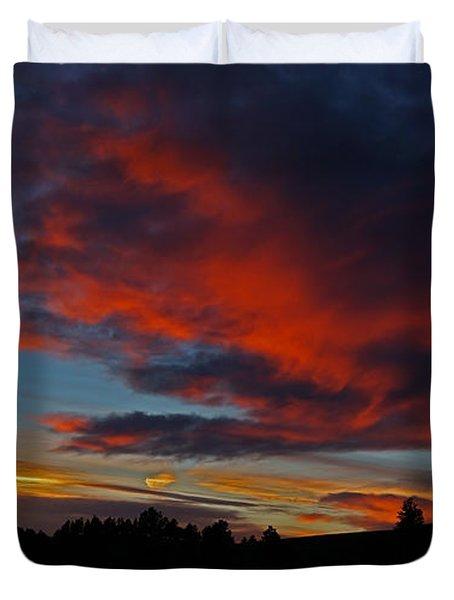 Black Hills Sunset Duvet Cover