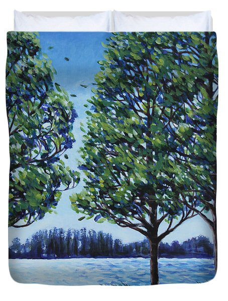 Wind In The Trees Duvet Cover