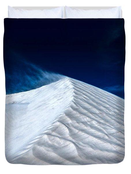 Wind Over White Sands Duvet Cover