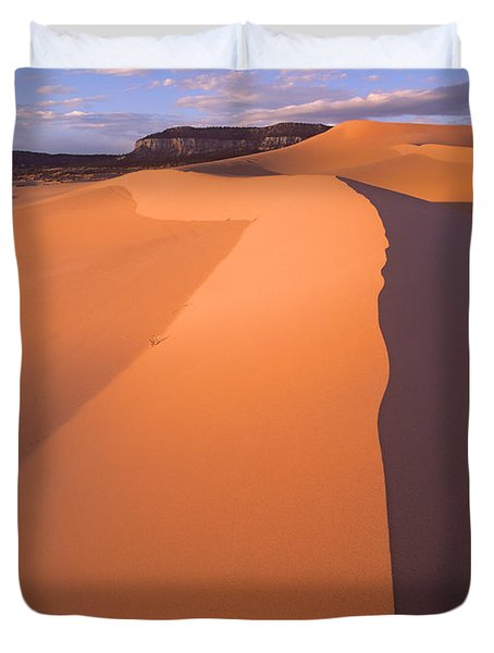 Wind Ripples Coral Pink Sand Dunes Duvet Cover