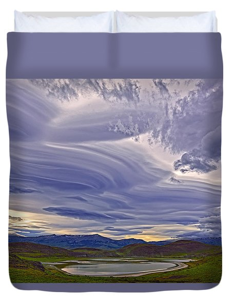 Wind Sculpture Duvet Cover