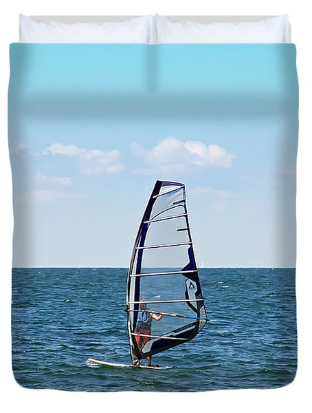 Wind Surfer Duvet Cover by Aimee L Maher Photography and Art Visit ALMGallerydotcom