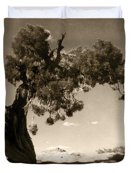 Wind Swept Tree Duvet Cover