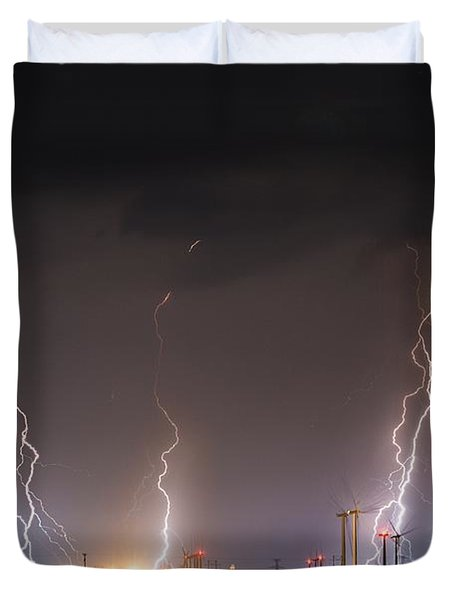 Windfarm Bolts Duvet Cover